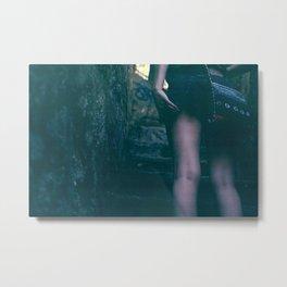 walking up the stairs. Metal Print