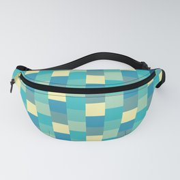 Patchwork Green Fanny Pack