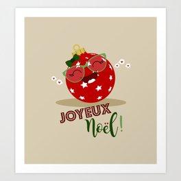 Boule de Noël (rouge) Art Print