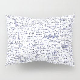 Physics Equations in Blue Pen Pillow Sham