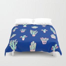 Little cactus pattern - Princess Blue Duvet Cover