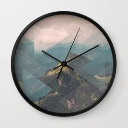 Alps Scattered Landscapes Wall Clock
