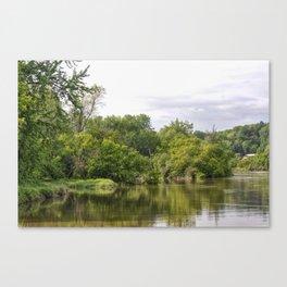 Winooski River Reflection Canvas Print