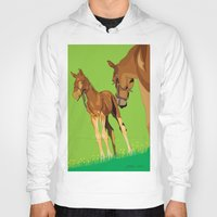 horses Hoodies featuring Horses by Anderssen Creative Imaging
