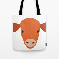 Cow-mor orange Tote Bag