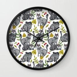 CAT KATZ Wall Clock
