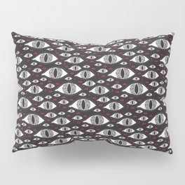 Scary eyes with bloody drops pattern Pillow Sham