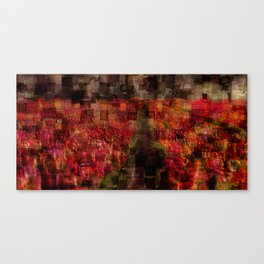 Field of Tulips Mosaic Canvas Print
