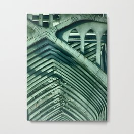 Bridge Ribs Metal Print
