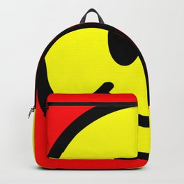 Smiley Face Skull Yellow Red Backpack