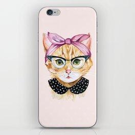 Retro Kitty iPhone Skin