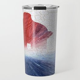 Colorful Art El Morro Blue Red and White Travel Mug