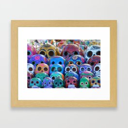 Calaveras Brillantes Framed Art Print