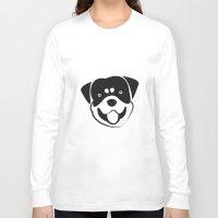 rottweiler Long Sleeve T-shirts featuring Rottweiler by anabelledubois