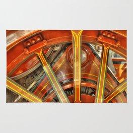 Steam Traction Engine Wheel Rug