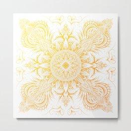 Mandala fire Metal Print