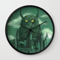 threadless Wall Clocks featuring Age of the Giants  by Terry Fan