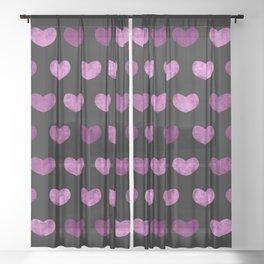 Colorful Cute Hearts VI Sheer Curtain