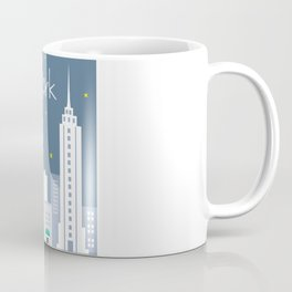 New York City, New York - Skyline Illustration by Loose Petals Coffee Mug