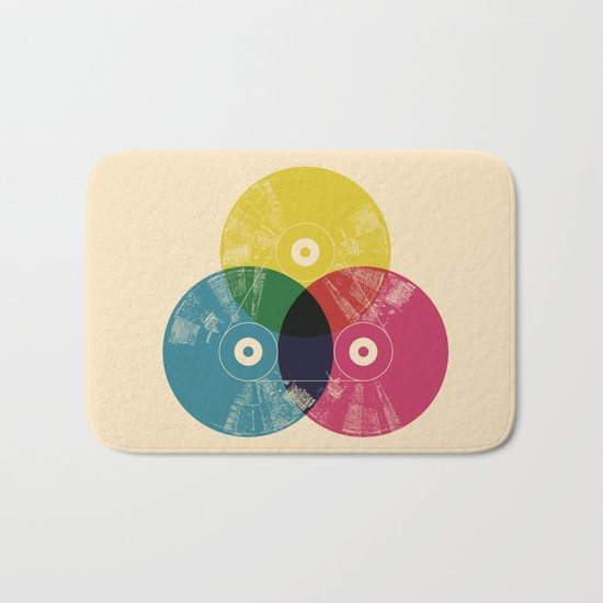 Music is the colors of life Bath Mat