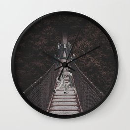 Distractions in the Woods Wall Clock