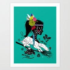 Wild, free and magical Art Print