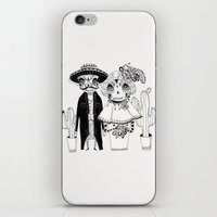 day of the dead iPhone & iPod Skins featuring Day of the Dead by Mono Ahn