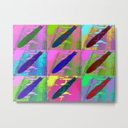 Zeppelin Warhol Metal Print