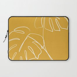 Monstera minimal - yellow Laptop Sleeve