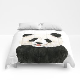 naughty little panda Comforters