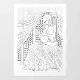 The Pregnant Owlet Art Print