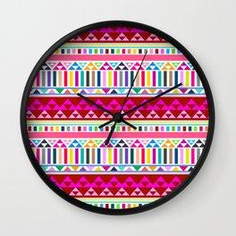 Mountain Stripe Kilim in Rainbow Multi Wall Clock
