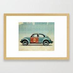 number 11 Bug Framed Art Print