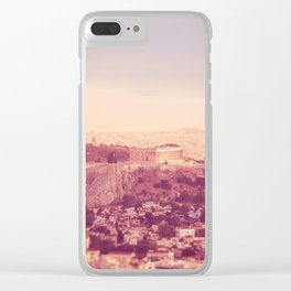 Sunset Over Athens Clear iPhone Case