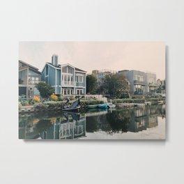 Venice Canals at Sunset Metal Print