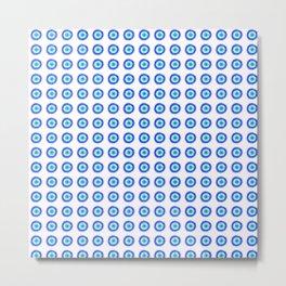 Pixel Evil Eye Pattern Metal Print