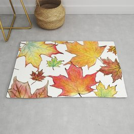 Autumn Maple Leaves Rug