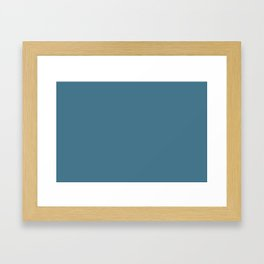 Pratt and Lambert 2019 French Blue 24-12 Solid Color Framed Art Print
