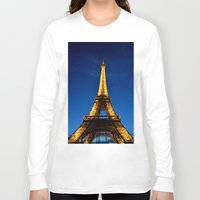 eiffel Long Sleeve T-shirts featuring Eiffel by Heather Hartley