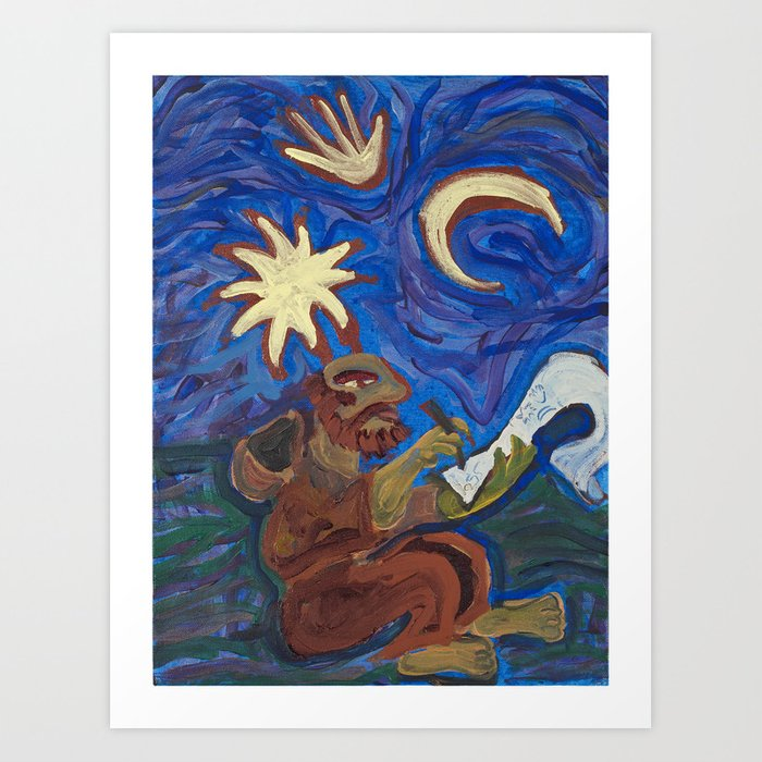 Cosmic Monk Art Print