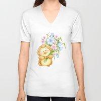 hedgehog V-neck T-shirts featuring  Hedgehog by Daria Kotyk