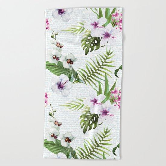 Tropical Summer #9 Beach Towel
