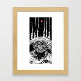 Space Monkey Framed Art Print