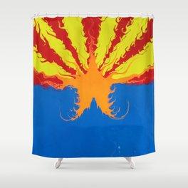 Arizona Flag Fluid Art Style 2 Shower Curtain