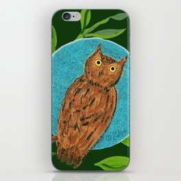 zakiaz full moon owl iPhone Skin