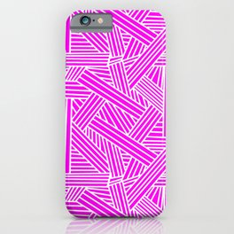 Sketchy Abstract (White & Magenta Pattern) iPhone Case