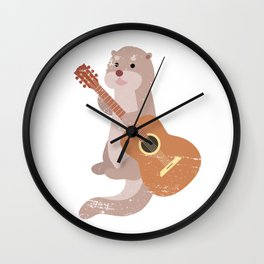 Otter Guitarist Wall Clock