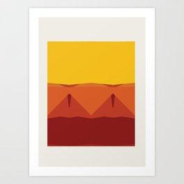 Geometric Afternoon Print Art Print
