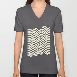 Abstract Waves 02A Unisex V-Neck