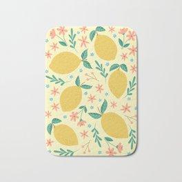 Mellow Yellow Lemons Bath Mat